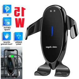 15W Qi Car Wireless Fast Charger Cell Phone Charging Holder