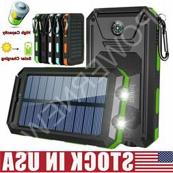 2021 Waterproof 2000000mAh USB Portable Charger Solar Power