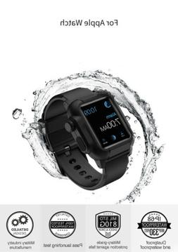 360 Waterproof Silicone Sport Band With Armor Case For Apple