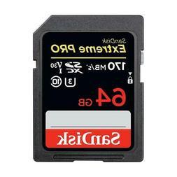 SanDisk 64GB Extreme PRO UHS-I U3 SDXC Memory Card #SDSDXXY-