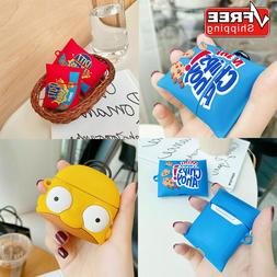 For AirPods Pro 1/2 Cover Wireless Cute 3D Cartoon Snacks Si