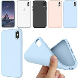 For iPhone X/XS/XR Case Cute Silicone Matte Hybrid Rugged Sl