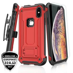 For Apple iPhone XS Max/XR/X Rugged Case 360° Belt Clip Hol