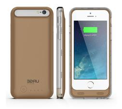 URGE Basics Armorlite iphone 6 Battery Case Gold and Clear C