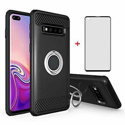 Asuwish Phone Case for Samsung Galaxy S10 Plus with Tempered