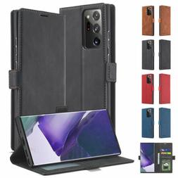 Business Leather Flip Card Magnetic Wallet Case Cover For Sa