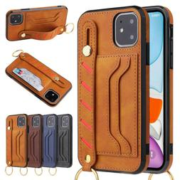 Business Leather Stand Card Pocket Case For iPhone 11 Pro Ma