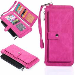 Cell Phone Carrying Pouch Women RFID Wallets Case cover for