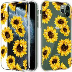 Caka Clear Case for iPhone 11 Pro Flower Case Sunflower Flor