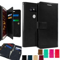 Double Side Flip Dual Card Slot Leather wallet Book Case cov