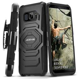 Galaxy S8 Active Case , Evocel Rugged Holster Dual Layer Cas