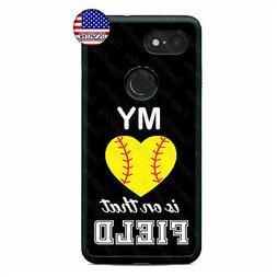 Google Pixel 3 3XL 2XL Cute Softball Phone Case Sports Fan C
