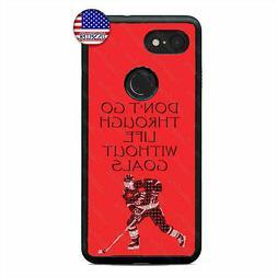 Google Pixel 3 3XL 2XL Ice Hockey Player Phone Case Puck Spo
