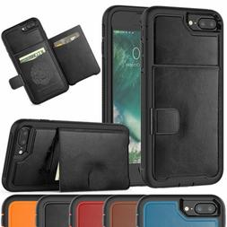 Hybrid Credit Card Holder Phone Case with Bracket Cover For