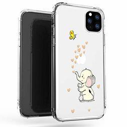JAHOLAN iPhone 11 Pro Max Case Clear Cute Design Flexible Bu