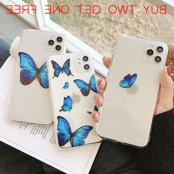For iPhone 11 Pro Max, X/XR/Xs Max, 7/8, SE2 Butterfly Cute