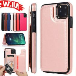 For iPhone 11 Pro Max Xr XS Business Card Holder Wallet Flip