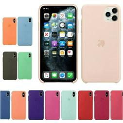 For iPhone 11 Pro Max XS XR 7 8 Plus Original Silicone Genui