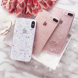 Cute Bling Glitter TPU Soft Clear Case Cover For iPhone11 Pr