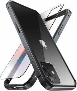 "For iPhone 12 12 Pro 6.1"", SUPCASE Slim Metal Frame Case wit"