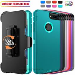 For iPhone 6 6s 7 8 Plus Shockproof Case Cover With Belt Cli