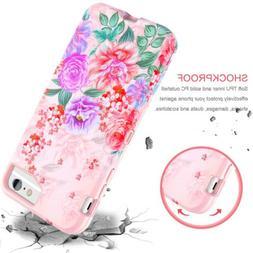 For IPhone 8 Plus 6S Plus Fashion Flower 3D Cute Case Cover