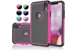 iPhone XR Njjex Shock Absorption, Drop Protection Hybrid Dua