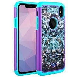 Caka iPhone XS Max Case,Heavy Protection Floral Luxury Flowe