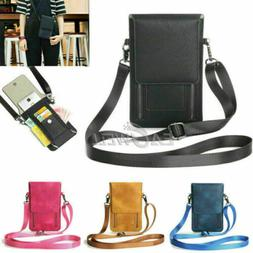 For iPhone XS Max XR Cross-body Shoulder Bag Zipper Case Han