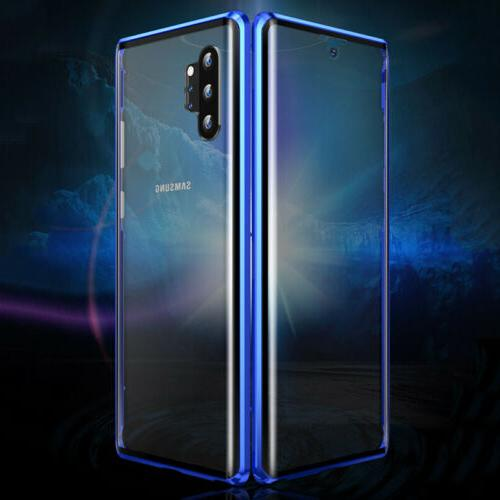 Case Cover For Samsung Note10+S10+ Tempered Glass Magnetic A