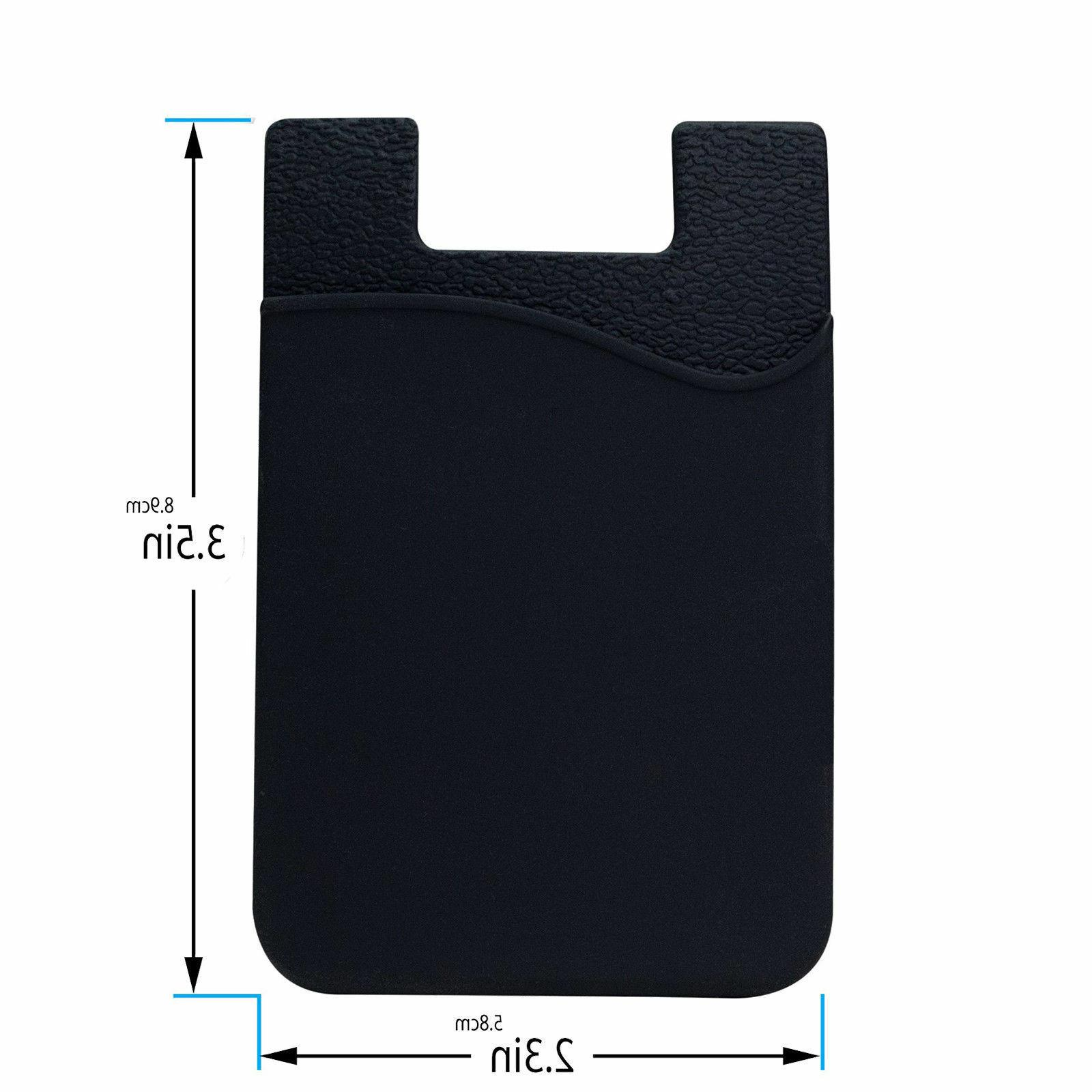 Adhesive Silicone Card Pocket Sticker Pouch Holder Case For