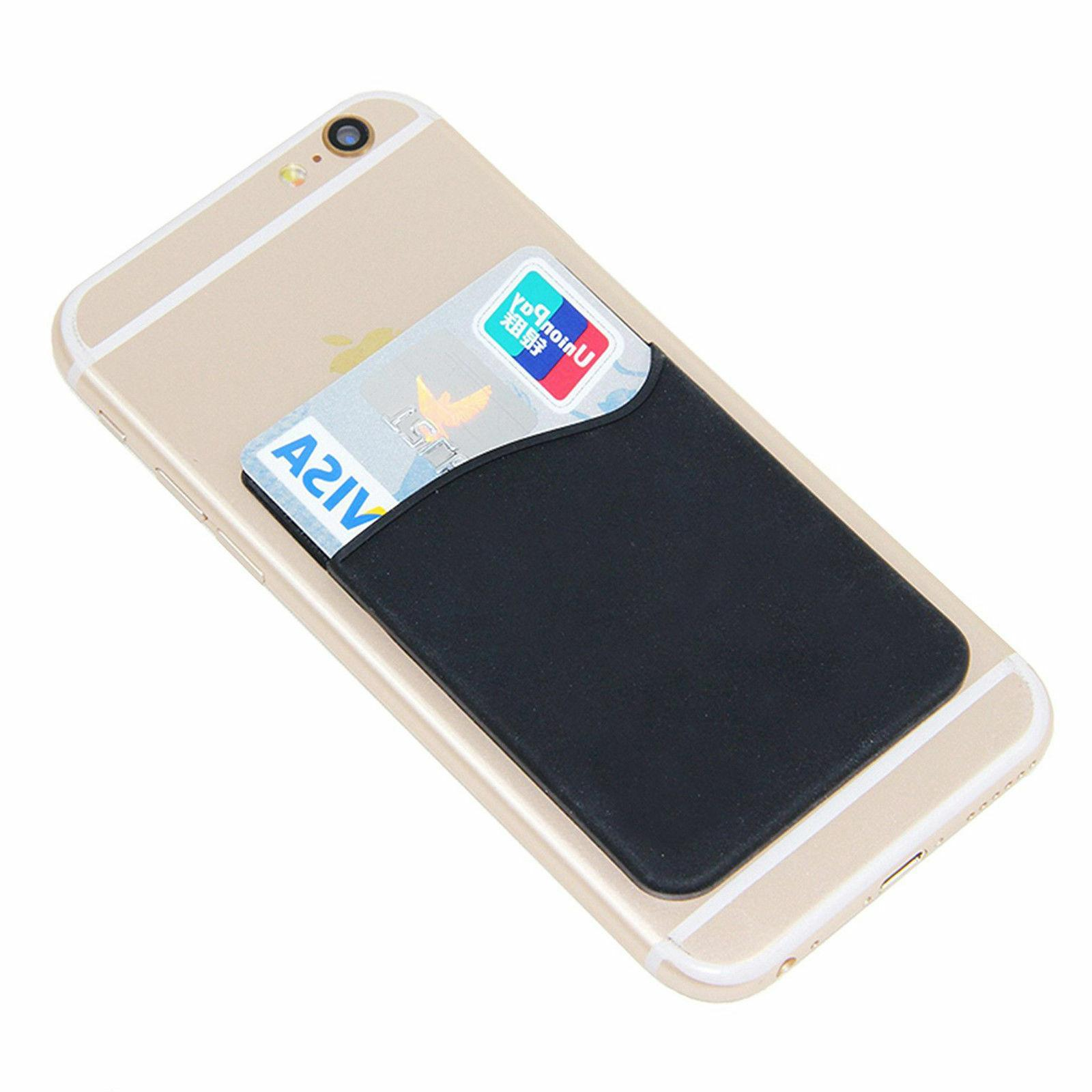 Adhesive Silicone Card Pocket Case
