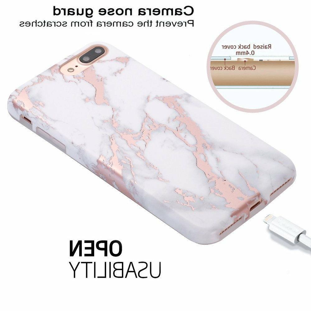 iPhone 7 Plus Shiny Rose Marble Bumper
