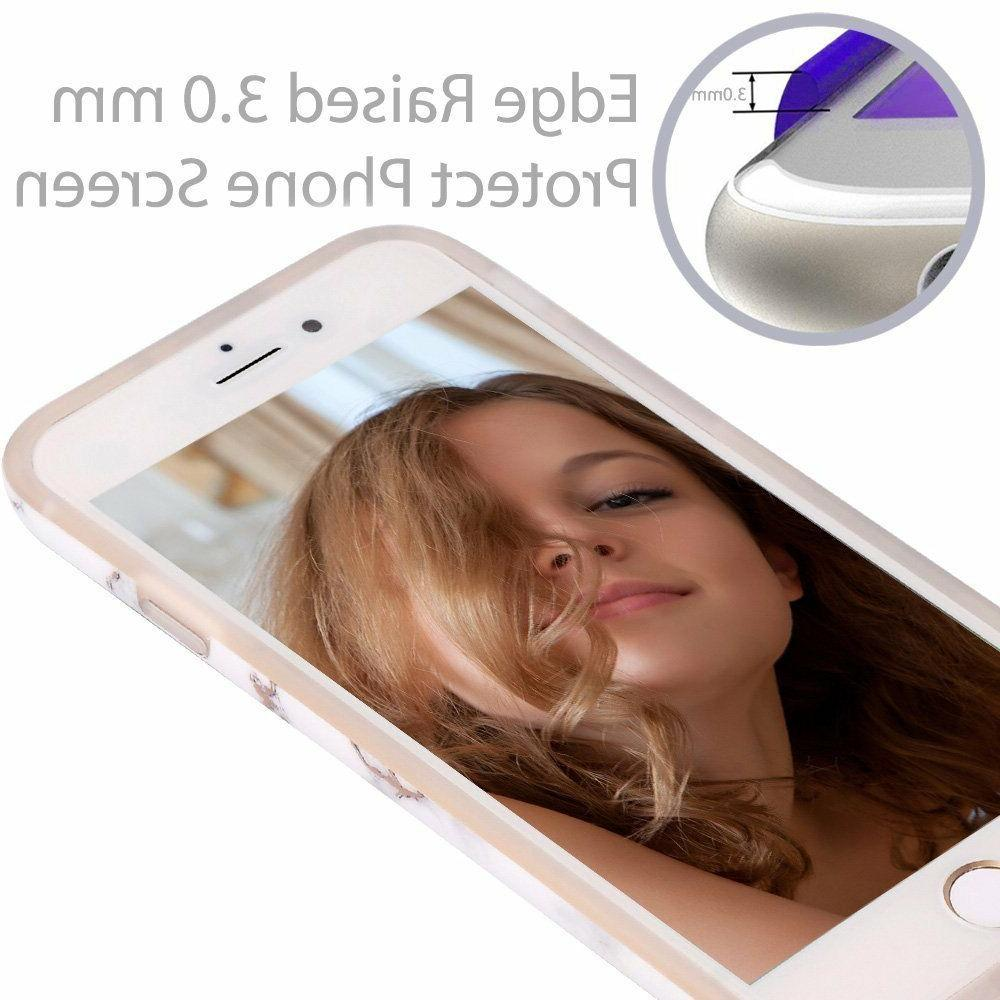 iPhone Shiny Rose Gold Marble Bumper