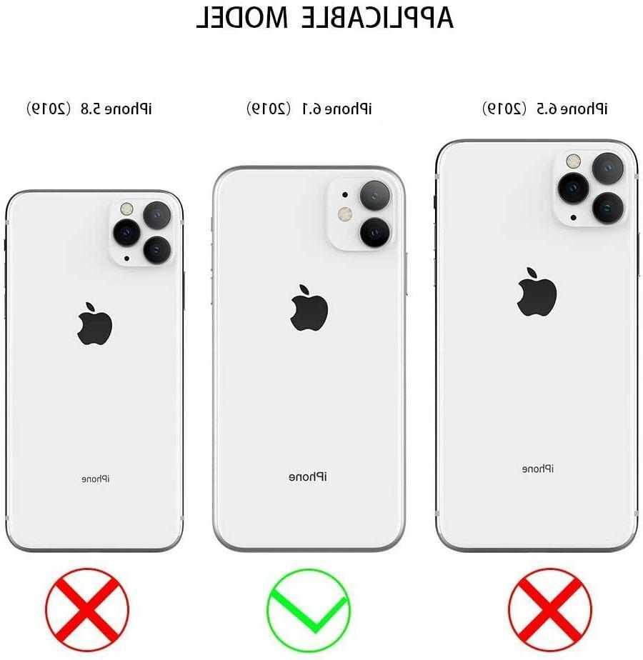 "JAHOLAN Apple iPhone 6.1"" 2019 Gold Glitter Sparkle Marble Case"