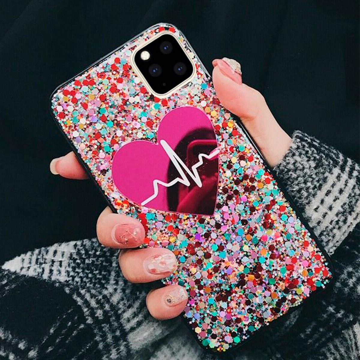 iPhone 8 7 XR MAX Bling Quicksand Back Cover for Girl