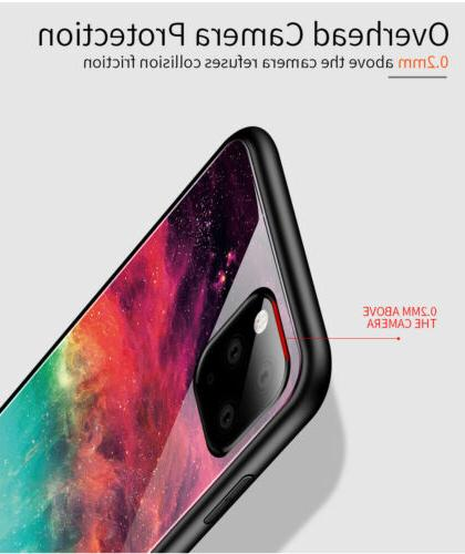 For iPhone 11 Pro Marble Tempered Glass Phone Case