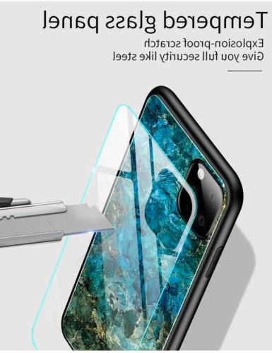 For Apple 11 Pro Marble Tempered Back Case