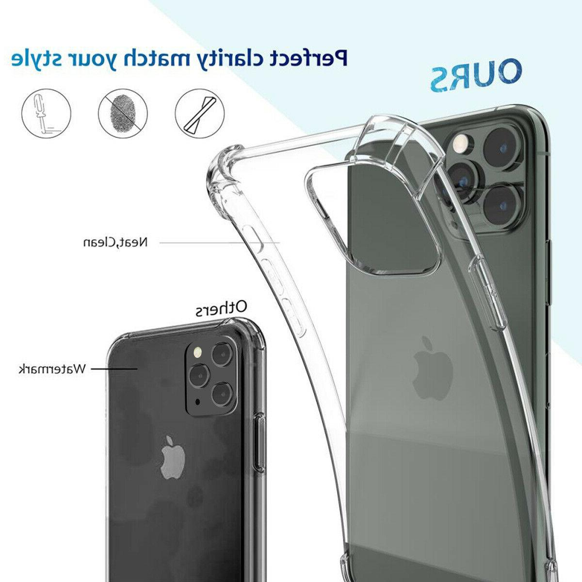 For Apple iPhone 12 11 Plus X MAX SE Mini Shockproof Clear Case