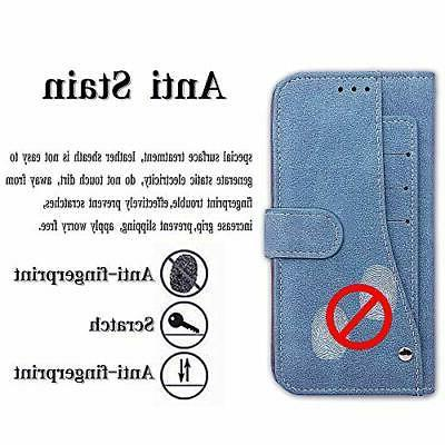 Asuwish iPhone 10R Case i Phone Wallet with Tempered Glass for