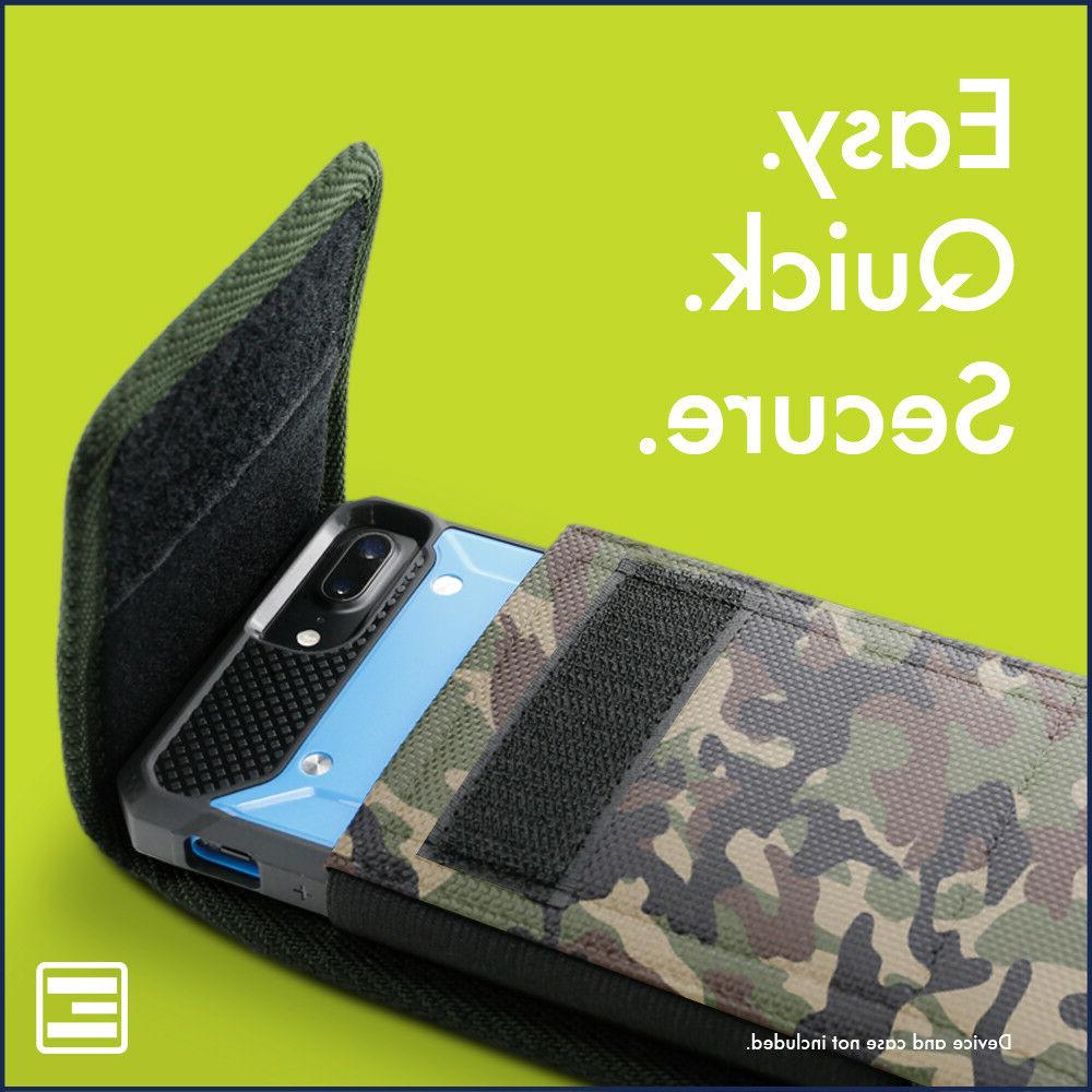 Camo Cell Phone Pouch w/ Belt Loop & Clip Holster