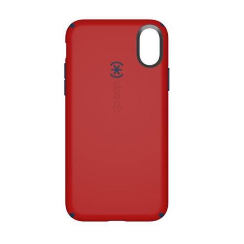 candyshell case iphone x dark poppy red