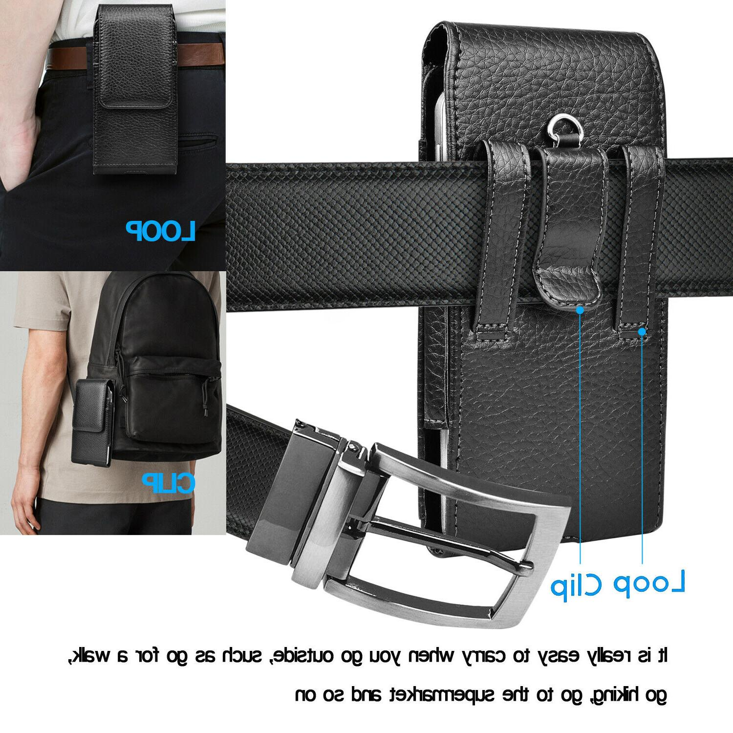 Cell Phone Holster Pouch Leather Case with Belt Samsung