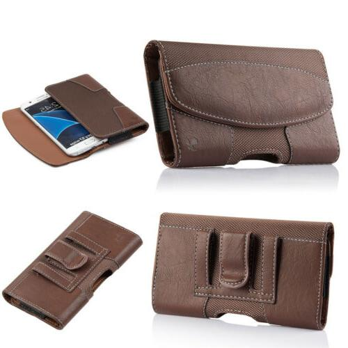 Cell iPhone Leather Pouch Case Cover Belt Holster