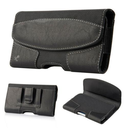 Cell Leather Cover Belt Clip