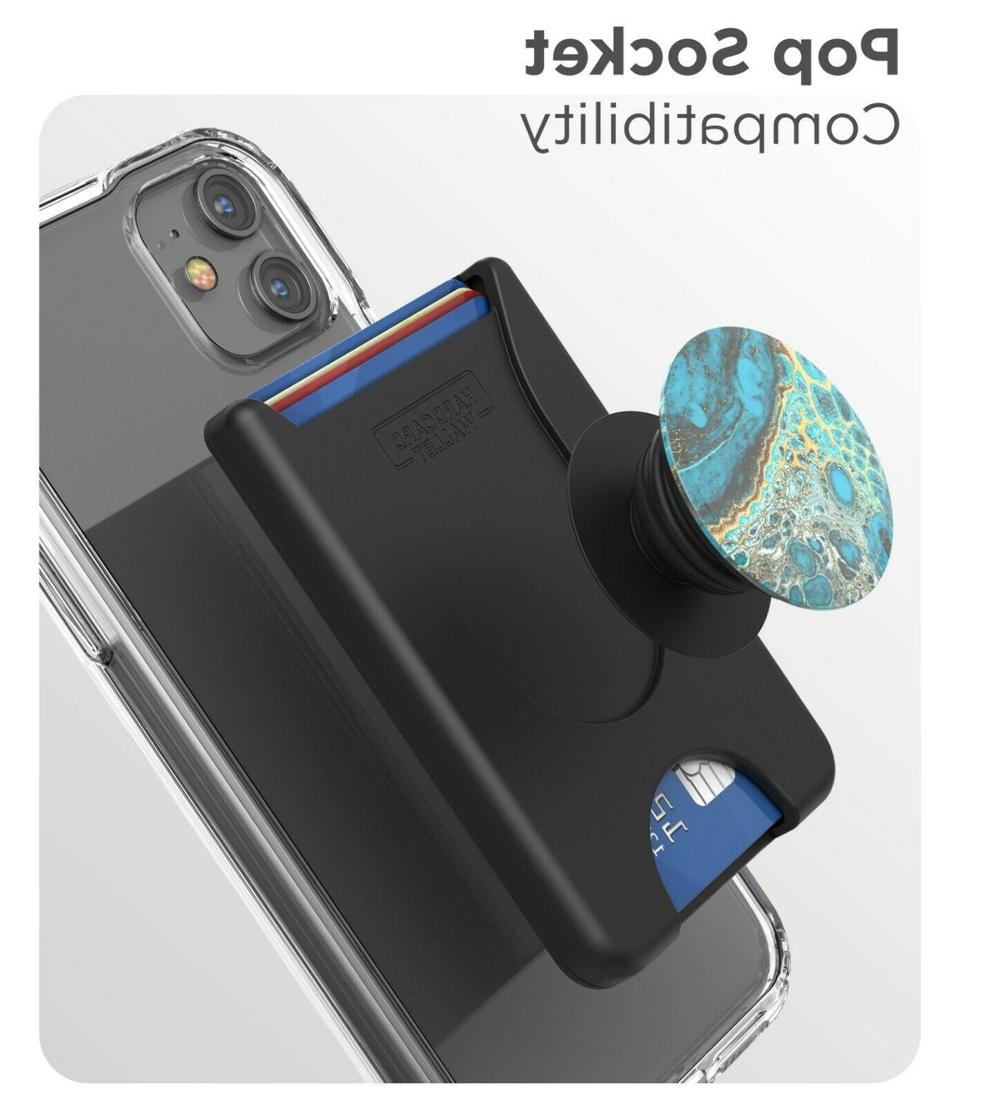Encased Phone Stick Credit Card Holder - Works w/ Pop Grips