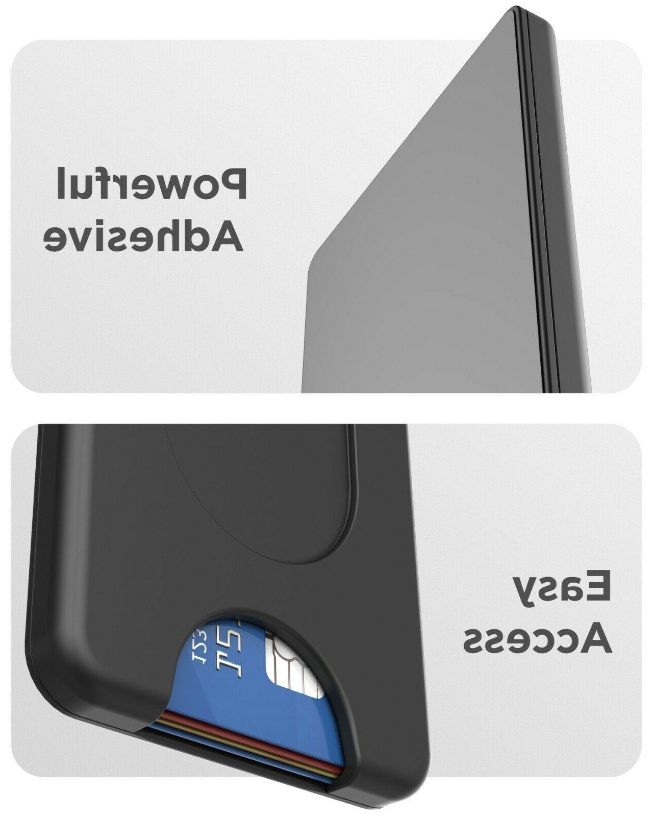 Encased Cell Phone Wallet, Stick On Credit Holder - Works Pop