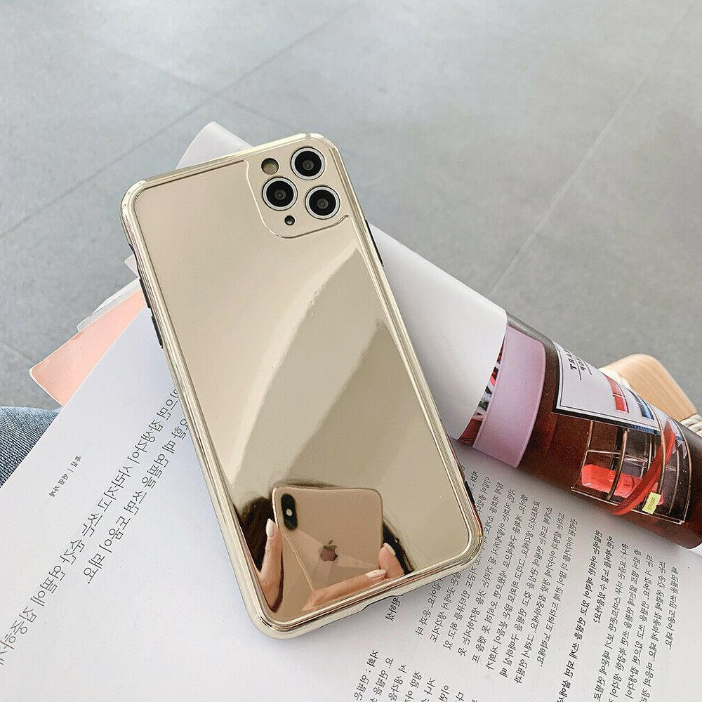 Chrome Mirror Gold Soft Case For iPhone 8 Plus XR Max