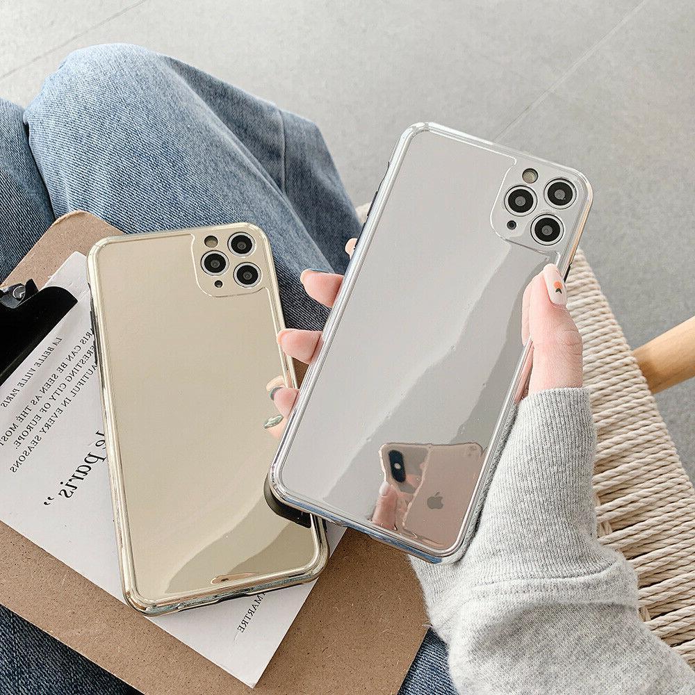 chrome luxury mirror silver gold soft case