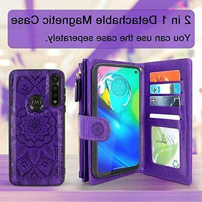 Harryshell Detachable Magnetic Zipper Wallet Case Cash Pocket with